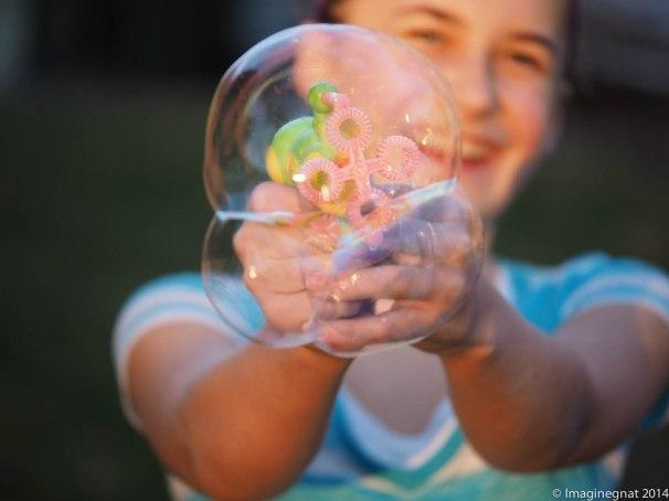 Bubbles are fun no matter what age you are