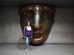 The replica copper face